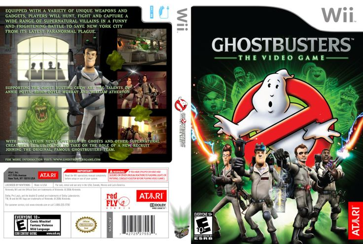 Video Games For Wii | Capa Ghostbusters The Video Game Wii