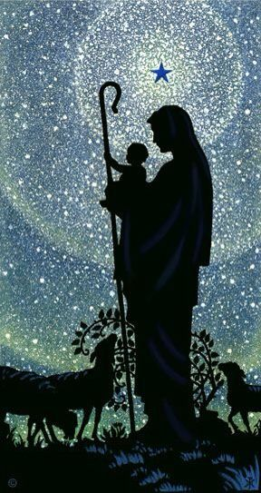 Beautiful Nativity; Virgin Mother with Baby Jesus
