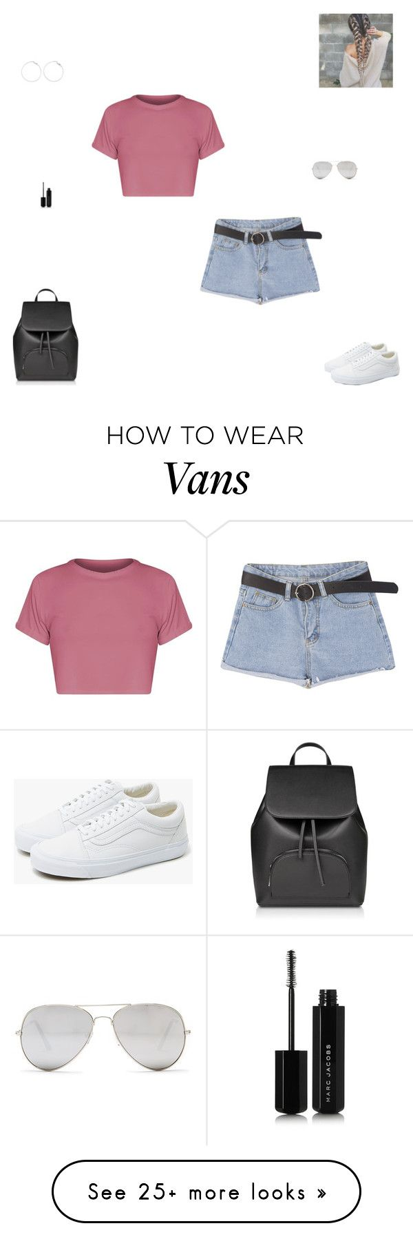 """""""bad things"""" by synclairel on Polyvore featuring Vans, Sunny Rebel and Marc Jacobs"""
