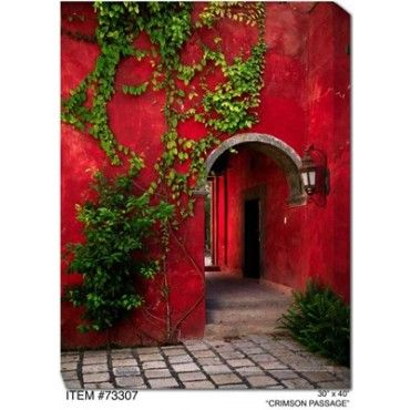 The crimson passage outdoor canvas art features an extraordinary waterproof and uv protected canvas material
