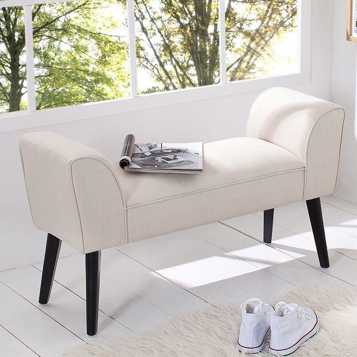 Stilvolle Sitzbank SCARLETT Gepolstert Creme Mit Armlehnen Bank Polsterbank  In Möbel U0026 Wohnen, Möbel,