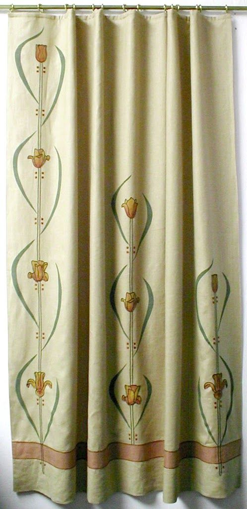 Arts & Crafts Curtains with Hand Embroidery - TextileStudio.com - Picasa Web Albums