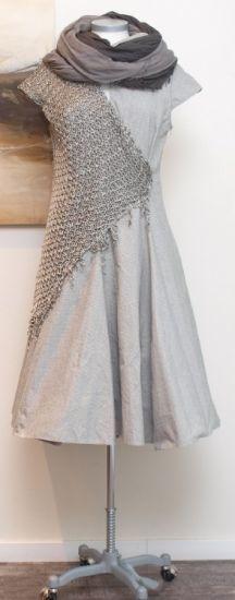 rostfrei by a. röstel - Kleid Stoff Strick Destroyed taupe - Sommer 2014 - stilecht - mode für frauen mit format...