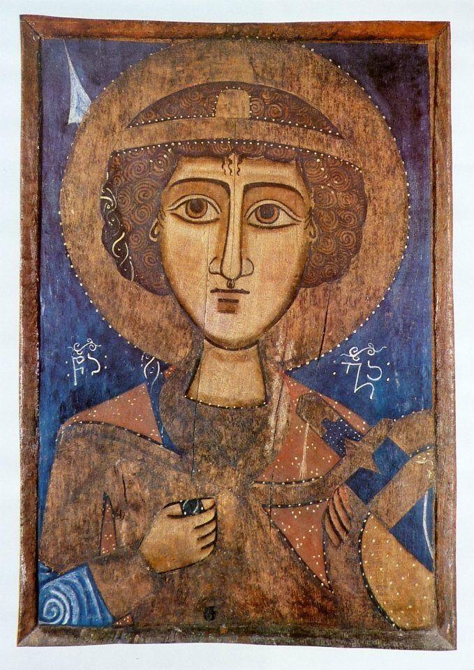 Angel - Coptic icon, probably Ethiopinan