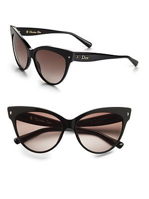 "Dior cat eye glasses - very cute. wear with a bomber jacket and some capris for a ""funky vintage"" look."