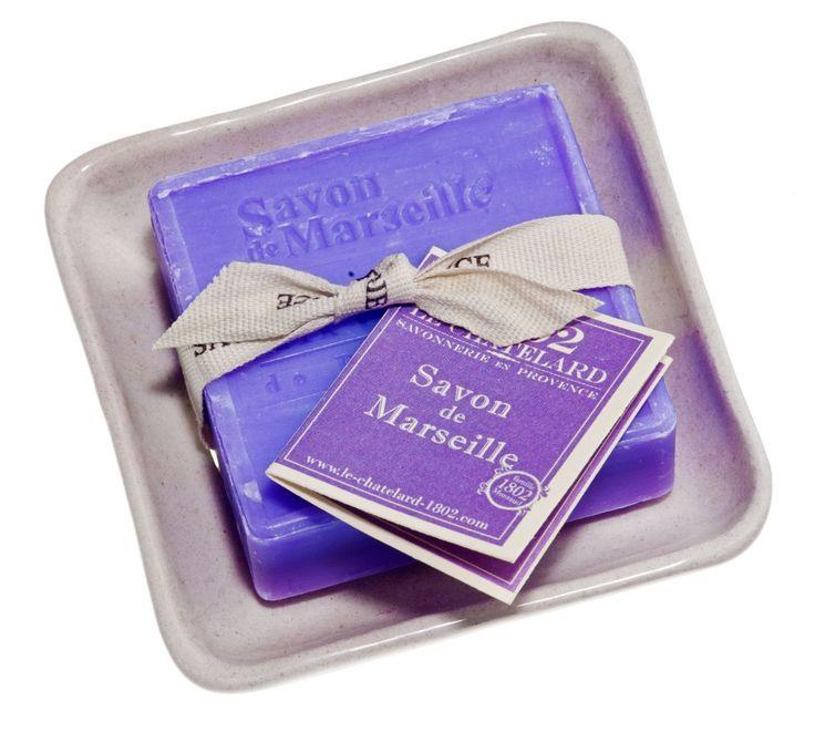 Levandulové mýdlo s mýdlenkou - čtverec | Bella Rose