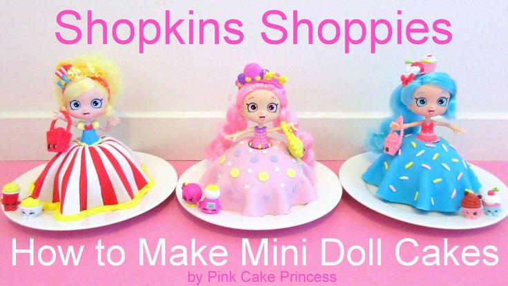 Easy no bake Shopkins Cake - Shopkins Shoppies doll cakes for your kids Shopkins birthday party! See how to make these Shopkins Shoppies doll cakes with Bubb...