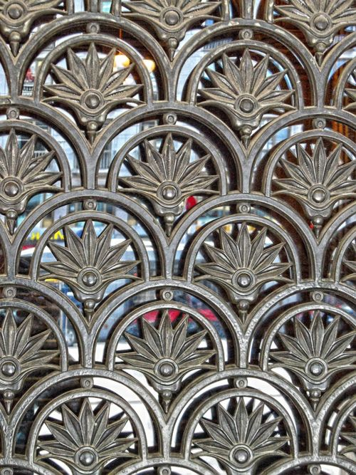 Gate detail By Daniel Schwabe    Geometric patterns in a gate in Vienna.