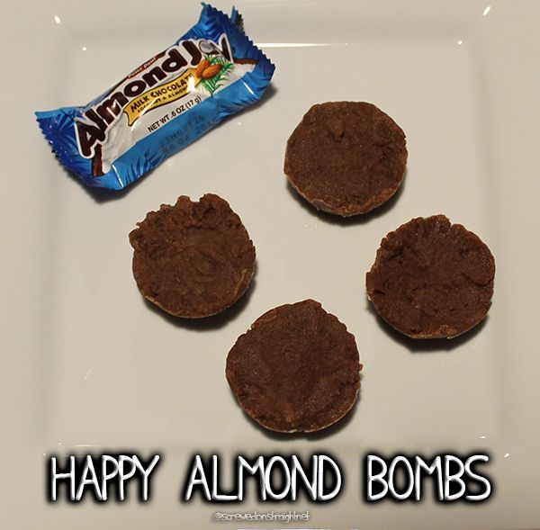 Do you like Almond Joys?  Try these Happy Almond Bombs, a low carb fat bomb reminiscent of your favorite candy bar!  @screwedonstraight.net