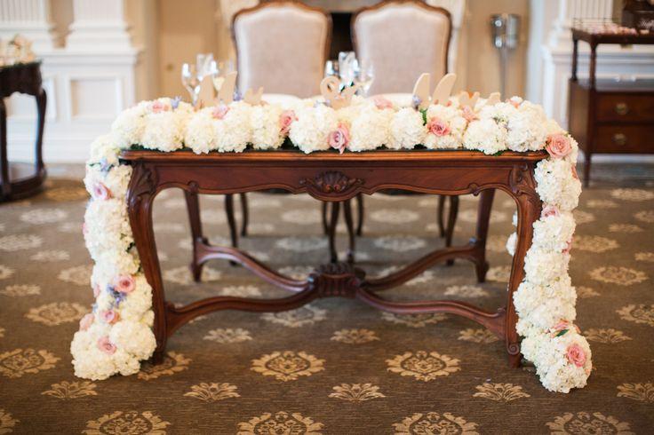 Table Flower Garland WEDDINGS Pinterest Sweetheart