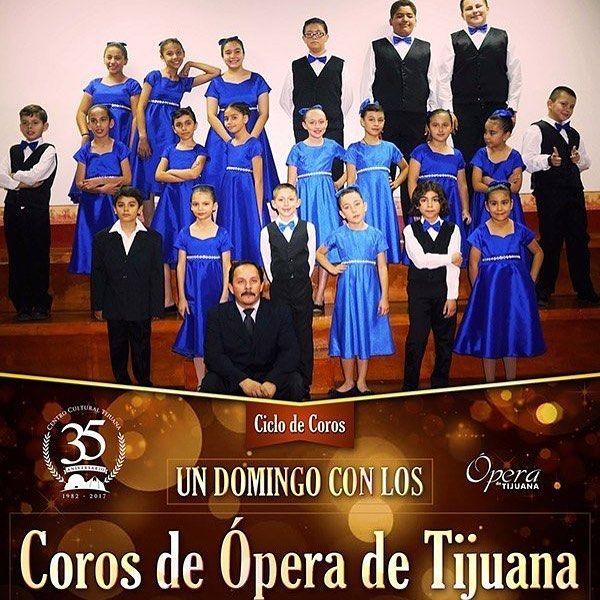 Un domingo con los Coros de Ópera de Tijuana ¡Este domingo 9 de abril a las 13 h en la Sala Federico Campbell!