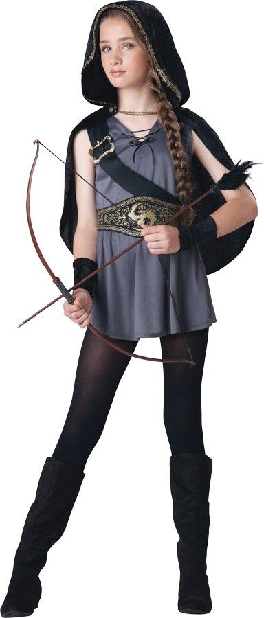 hooded child huntress girls costume - Primrose Everdeen Halloween Costume