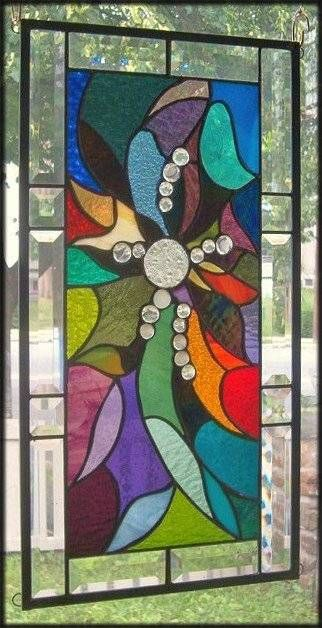 Effervescent Stained Glass Window Panel...maybe something abstract and colorful?