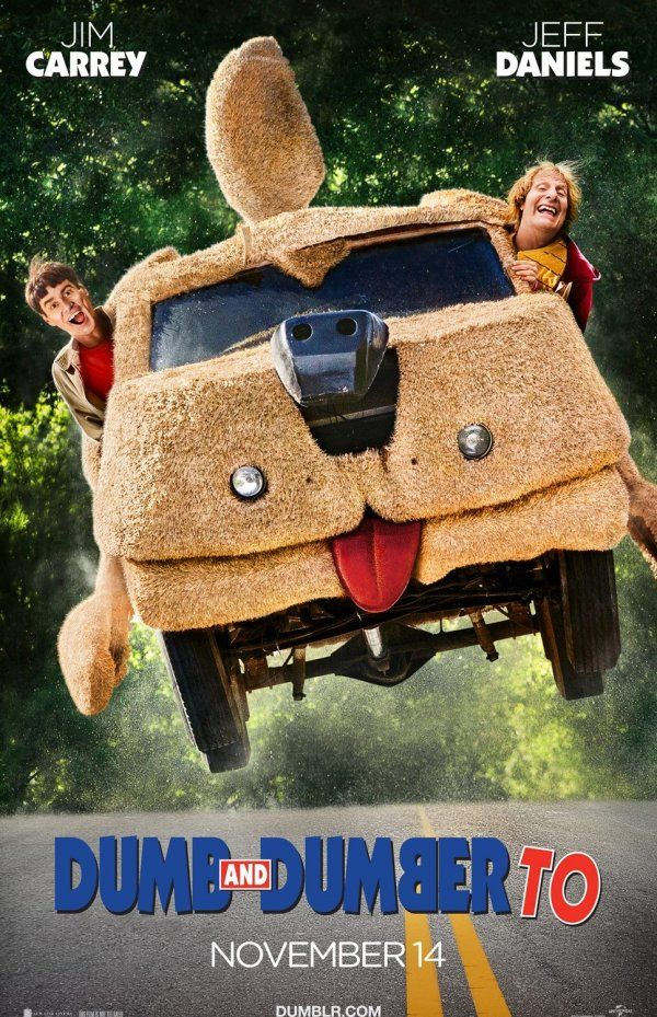 Dumb And Dumber To (November 14, 2014) A comedy/sequel directed by Bobby and Peter Farrelly.  Stars: Jim Carrey, Jeff Daniels, Kathleen Turner, Brady Bluhm, Rob Riggle, and Rachel Melvin.  This plot follows Harry Dunne and Lloyd Christmas 20 years later trying to track down one of their children.
