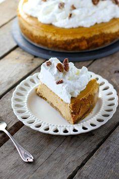 Cheesecake Factory Pumpkin Cheesecake has a beautiful gingersnap graham cracker crust. So, so good.