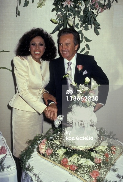 Wedding of Diahann Carroll And Vic Damone at Golden Nugget Casino in Atlantic City, New Jersey, United States.