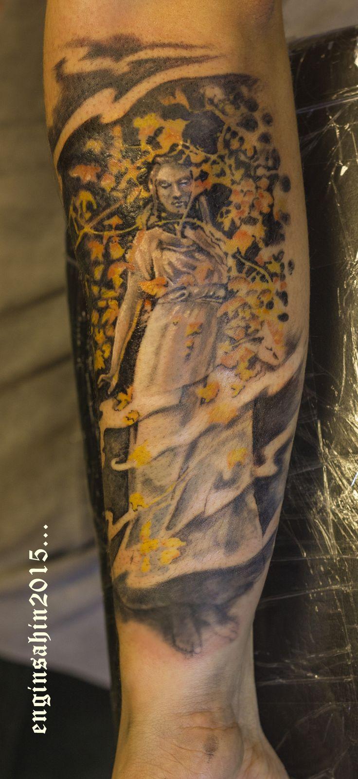engin şahin - tattoo - dövme - angel - statue - realistic - melek dövmesi