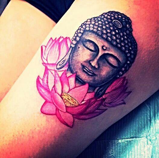 Hippie indie hamsa mandala buddha tattoo design