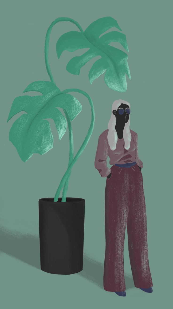 Woman and The Plant on Behance