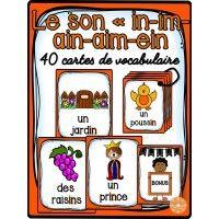"""Le son """"in"""" - 40 cartes de vocabulaire"""