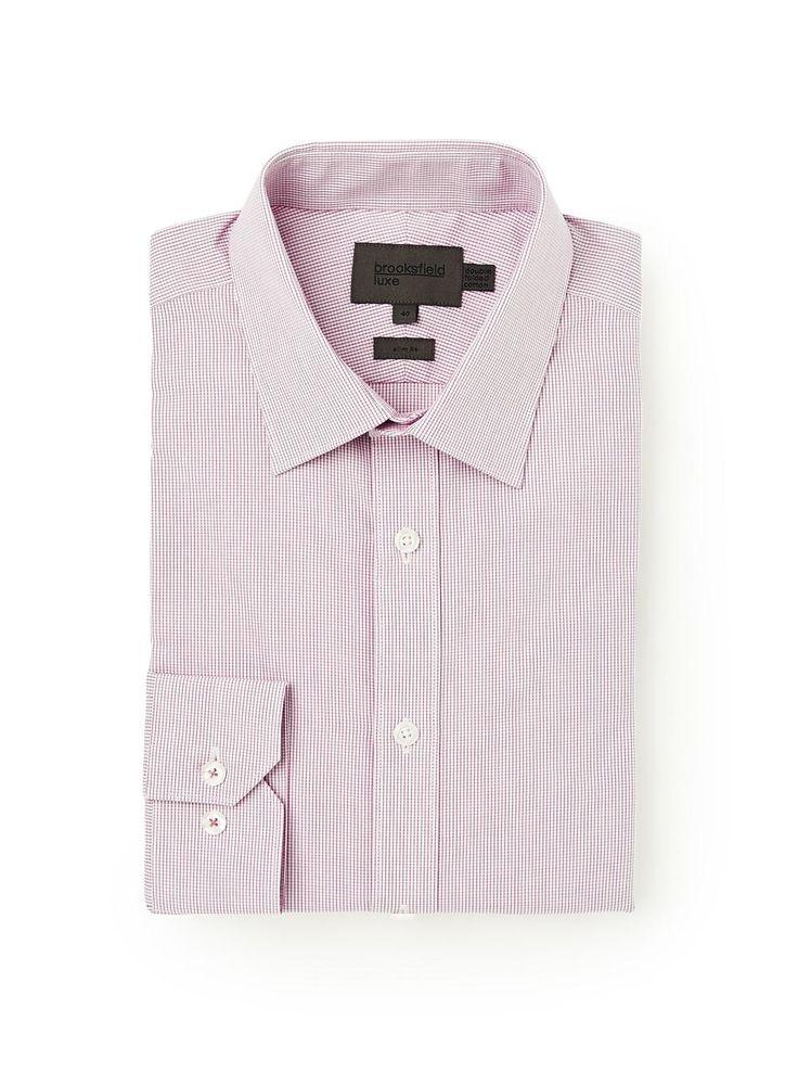 Brooksfield Online Shop: grid check shirt - bfc967 lilac