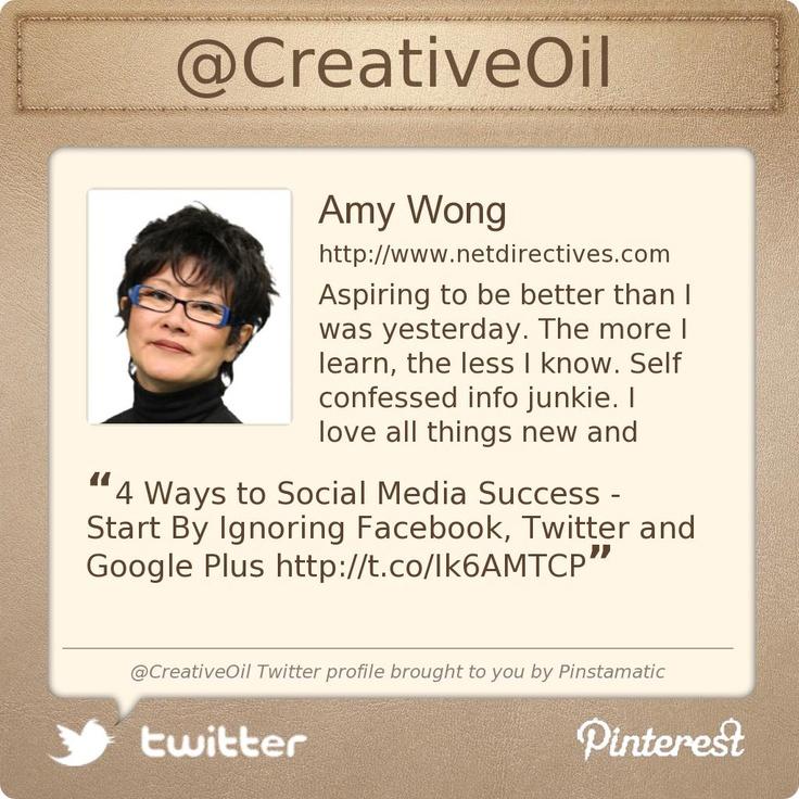 @CreativeOil's Twitter profile  Yeah... it's me.