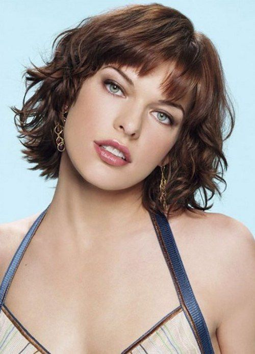 Short Wavy Hairstyles with Bangs 2014