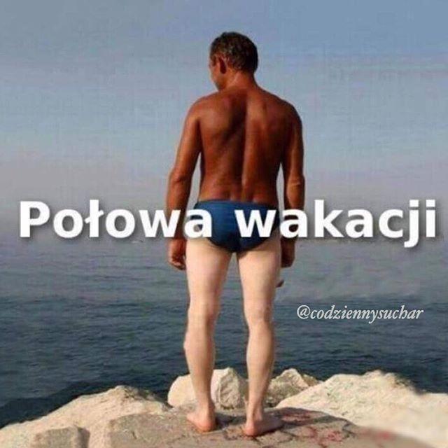 #dzieńdobry #to #już #połowa #wakacji #opalamy #się #plaża #plaza #plażing #wakacje #lol #słońce #kocham #miłość #opalony #codziennysuchar #codzienny #suchar #humor #haha #heheszki #polishboy #polishgirl #polska