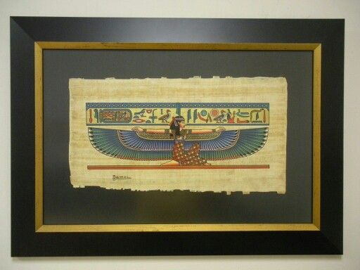Egyptian Papyrus Is Very Dramatic When Framed In Bold