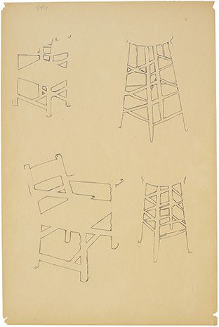 shapes they saw between the rungs of chairs, albers - Google Search