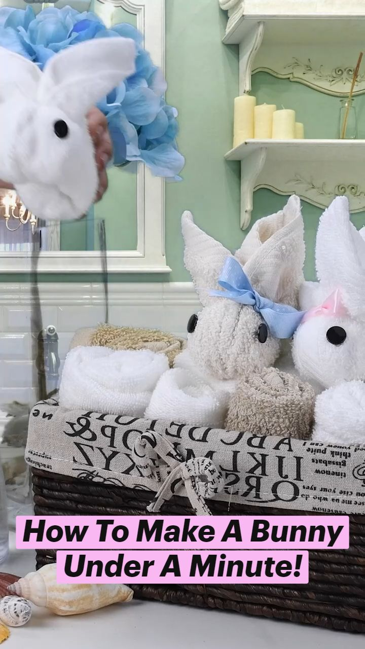 Diy Crafts For Girls, Diy Crafts Hacks, Home Crafts, Fun Crafts, Diy And Crafts, Holiday Fun, Holiday Crafts, Towel Animals, Easter 2021