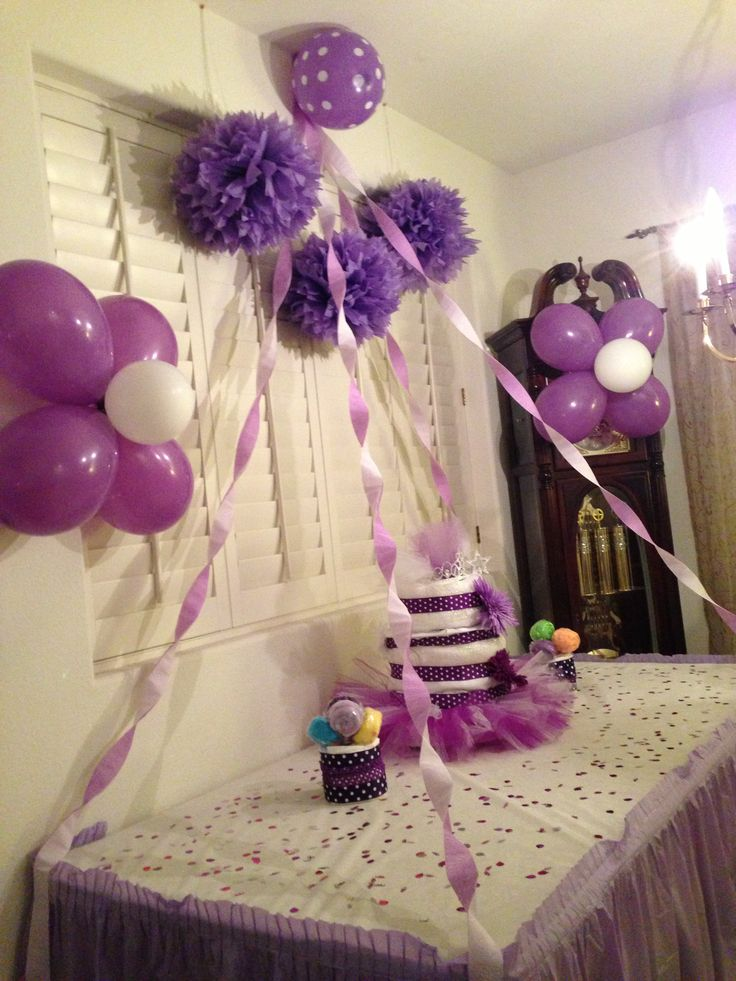 Baby shower ideas purple theme lindsey shoults lol for Dekoration fur babyparty