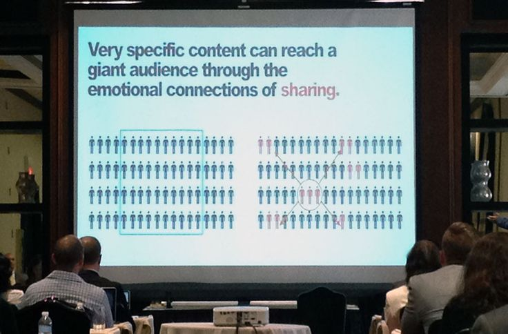 Very specific content can reach a giant audience through the emotional connections of sharing.