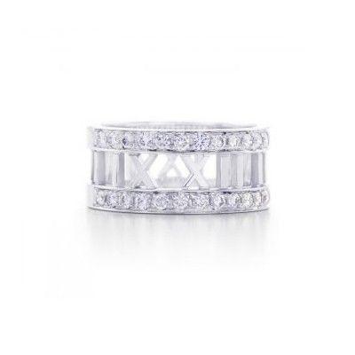 Tiffany And Co Ring Diamond Atlas Silver 042