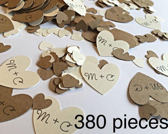 Aangepaste confetti.  Bruids douche confetti bruiloft confetti. Betrokkenheid partij confetti.  Confetti hart.  Bruids douche en bruiloft decorati