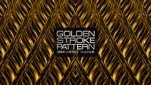 Golden Stroke Pattern Video Animation | 4K (3840×2160) | Looped | H.264 | Can use for VJ, club, music perfomance, party, concert, presentation | #cinematic #concert #edm #fashion #frame #glamour #glow #gold #golden #loops #luxurious #music #pattern #slow #vj
