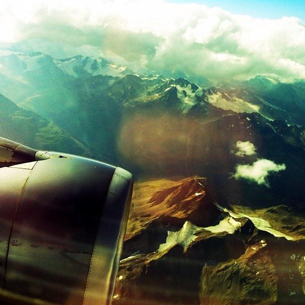 """@phillirose's photo: """"Engine in the skies near Innsbruck, en route to #SDT2012 yesterday."""""""