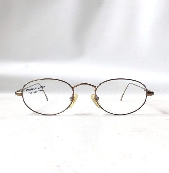 Gold Metal Glasses Frames : vintage 1990s NOS ralph lauren polo eyewear eyeglasses ...