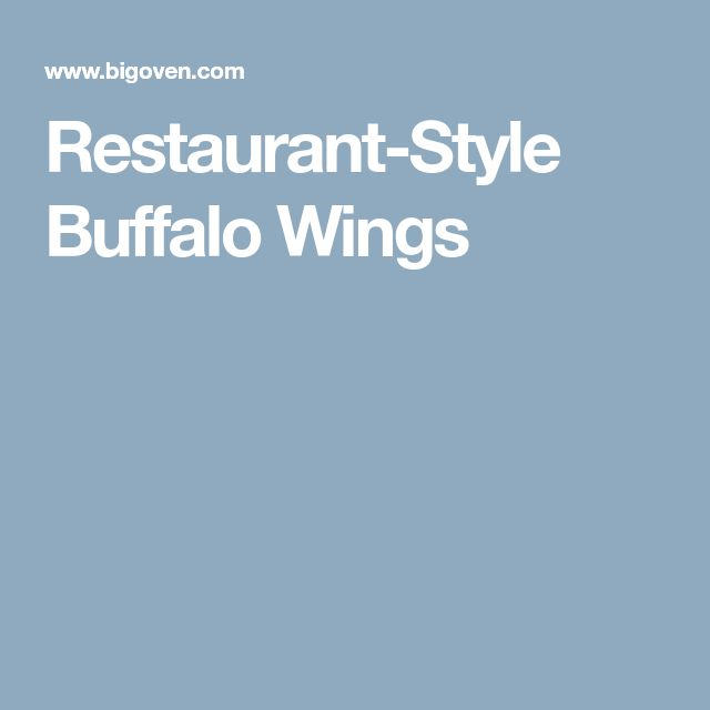 Restaurant-Style Buffalo Wings