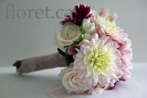 Light Pink Autumn Dahlia Bouquet