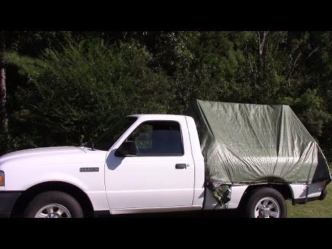 In this video I show you how I made a tent for the back of my Ford ranger.
