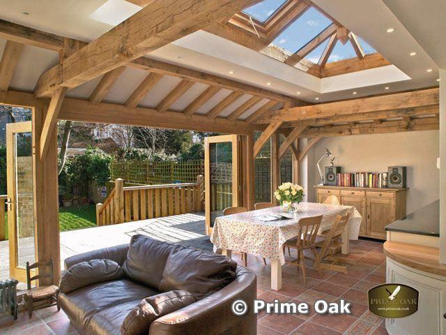 Lantern roof and oak doors - stunning