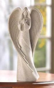 Sandstone Praying Angel Figurine