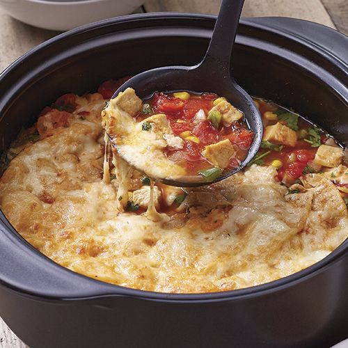 Hearty+Chicken+Quesadilla+Soup+-+The+Pampered+Chef®