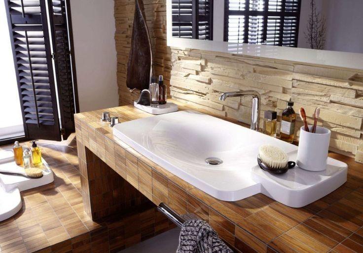 105 Badezimmer Design Ideen Stein Und Holz Kombinieren Badezimmer Fliesen Badezimmer Badezimmer Fliesen Ideen