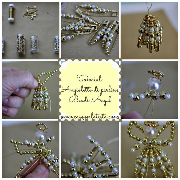 Angioletti di perline: tutorial* How to make angels of beads