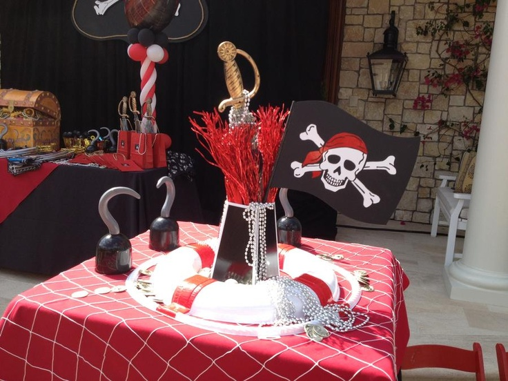 Caribbean Theme Party Ideas On Pinterest: Pirate Centerpiece
