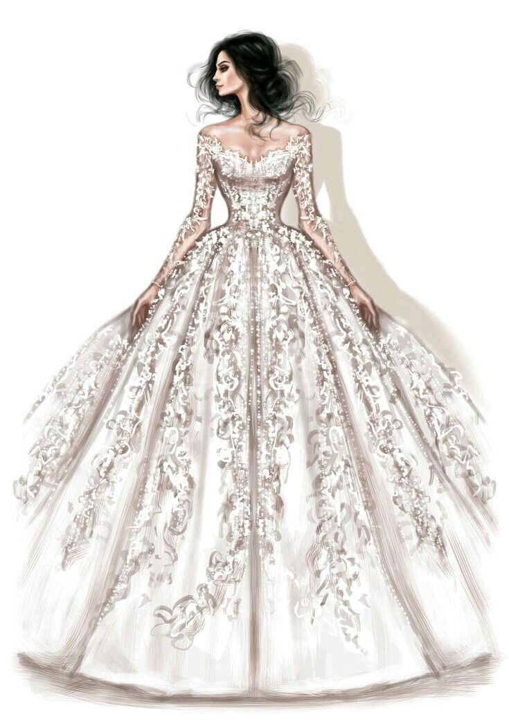 Ball Gown For The Princess Fashion Illustration Dresses Dress Design Sketches Wedding Dress Sketches