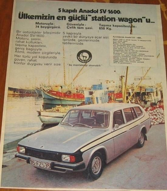 Anadol A5 SV 1600 Reklamı - Ad - Ülkenin en güçlü station wagon'u - The most powerful SW in country (Turkey)