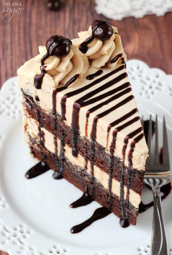 Mokka Brownie Ice Cream Cake – Leben Liebe und Zucker   – Food – #Brownie #Cake …